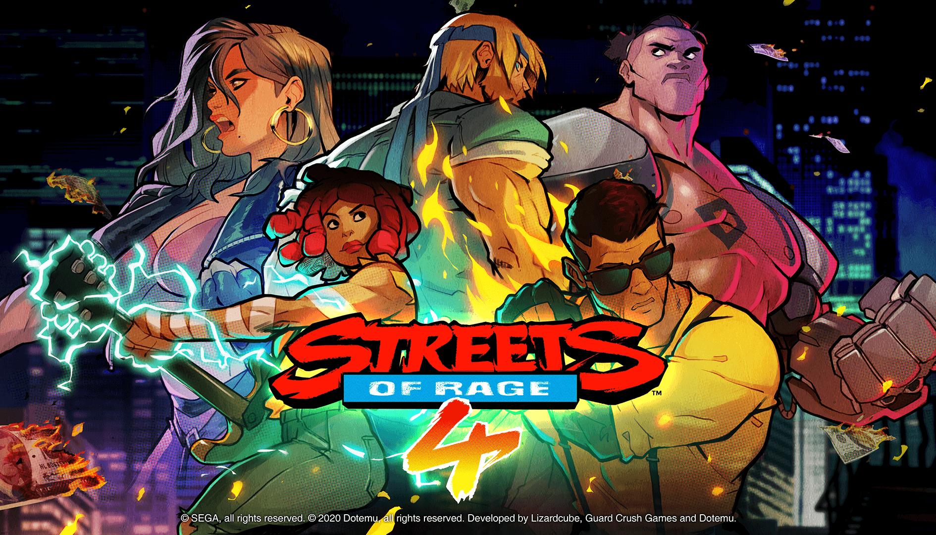 Svelate le dimensioni di Streets of Rage 4 e altri titoli