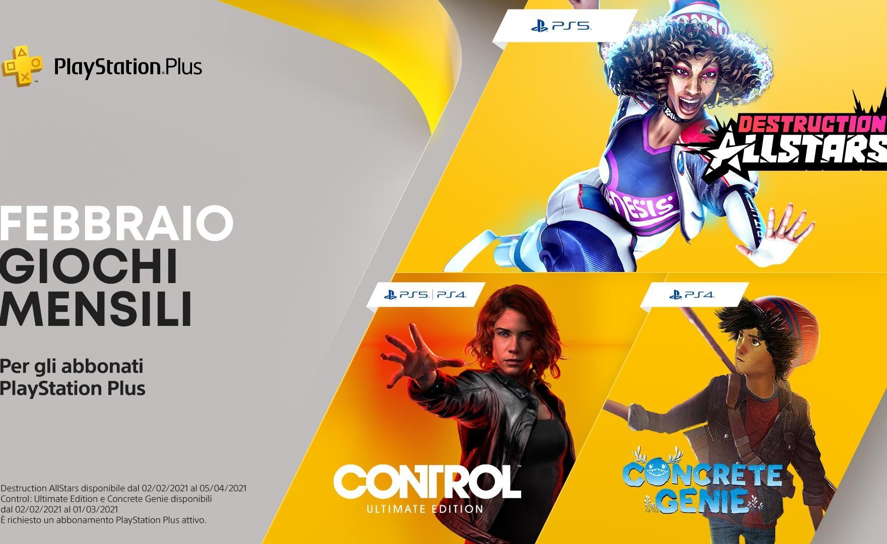 PS Plus: giochi gratis di febbraio 2021, c'è anche un'esclusiva PS5