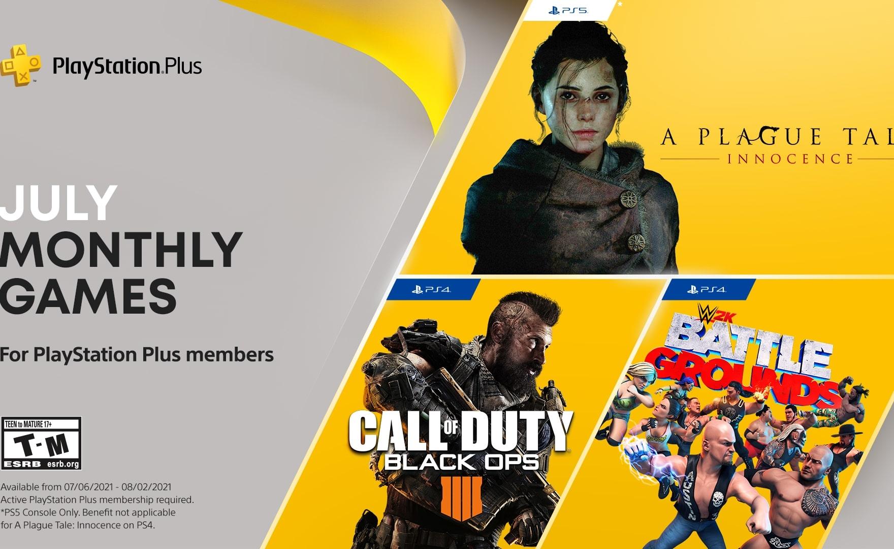 PS Plus: annunciati i giochi gratis di luglio 2021, c'è anche Call of Duty!
