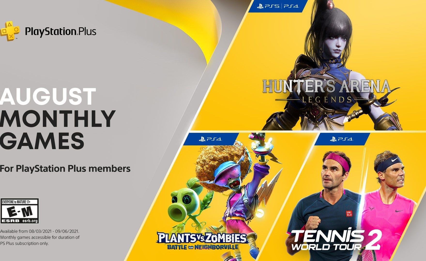 PS Plus: annunciati i giochi gratis di agosto 2021