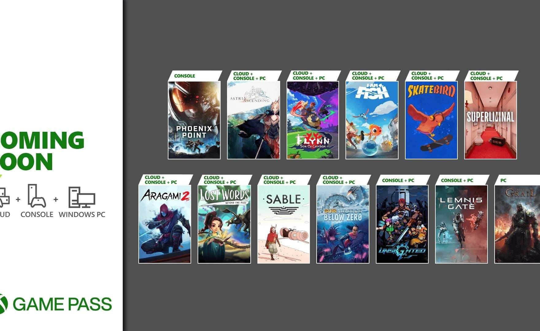 Xbox Game Pass: in arrivo una valanga di nuovi giochi, ecco quali