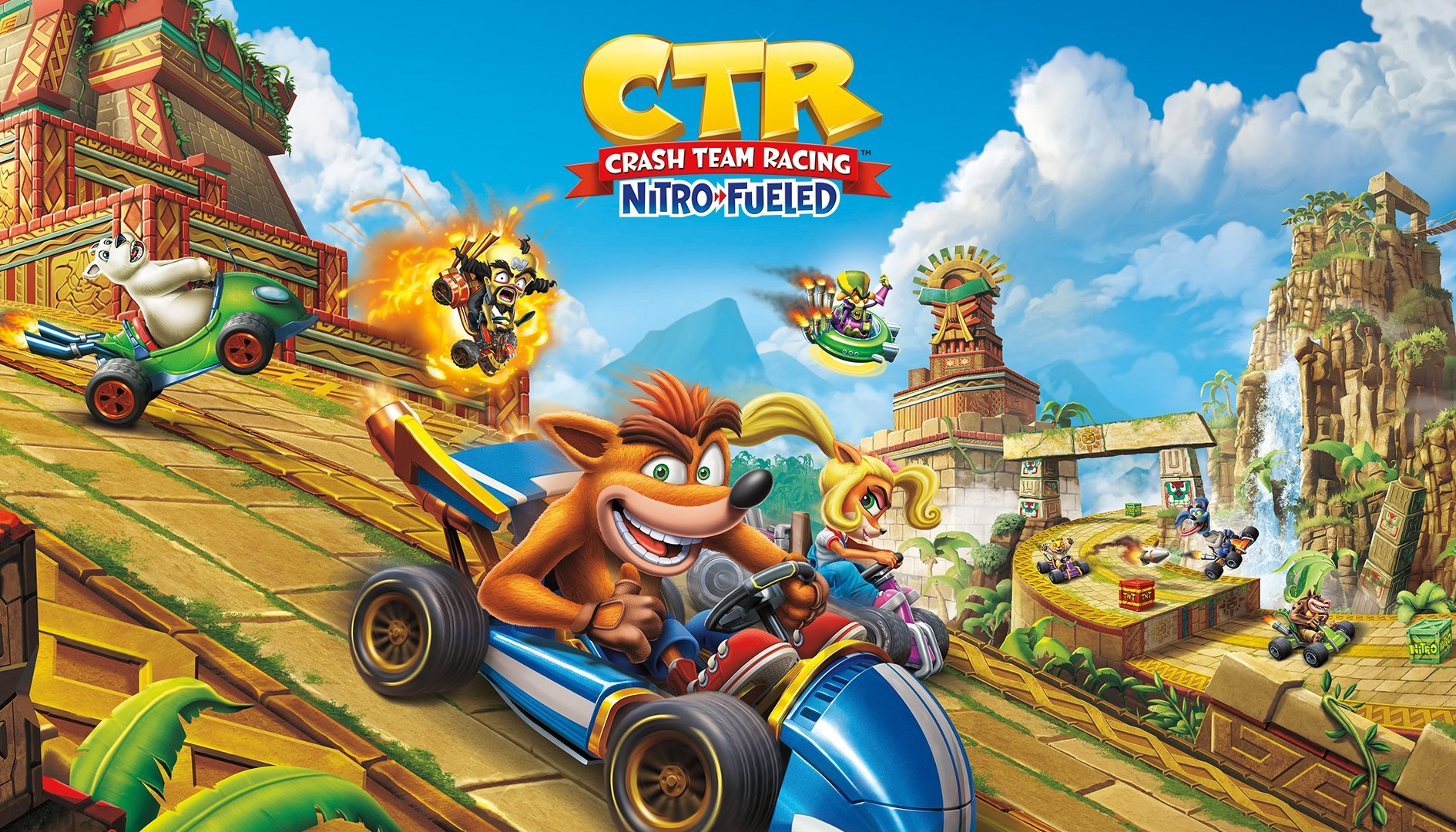 PS4 in bundle con Crash Team Racing Nitro Fueled