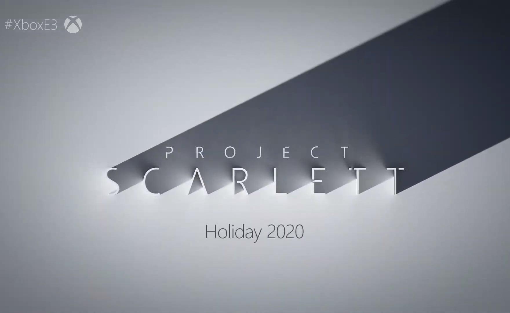Xbox Scarlett è realtà