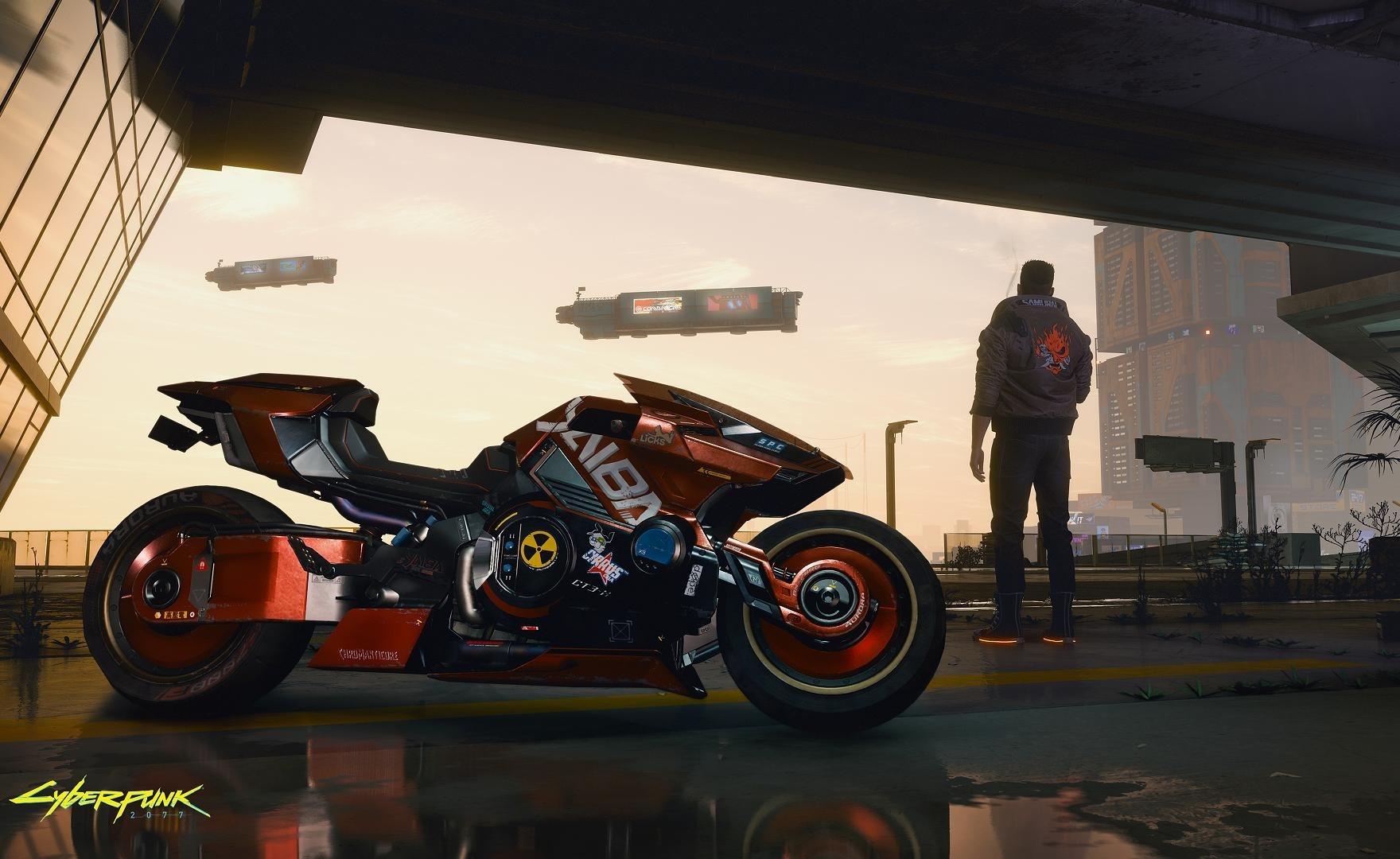 Cyberpunk 2077, la moto Yaiba Kusanagi si mostra in un nuovo screenshot