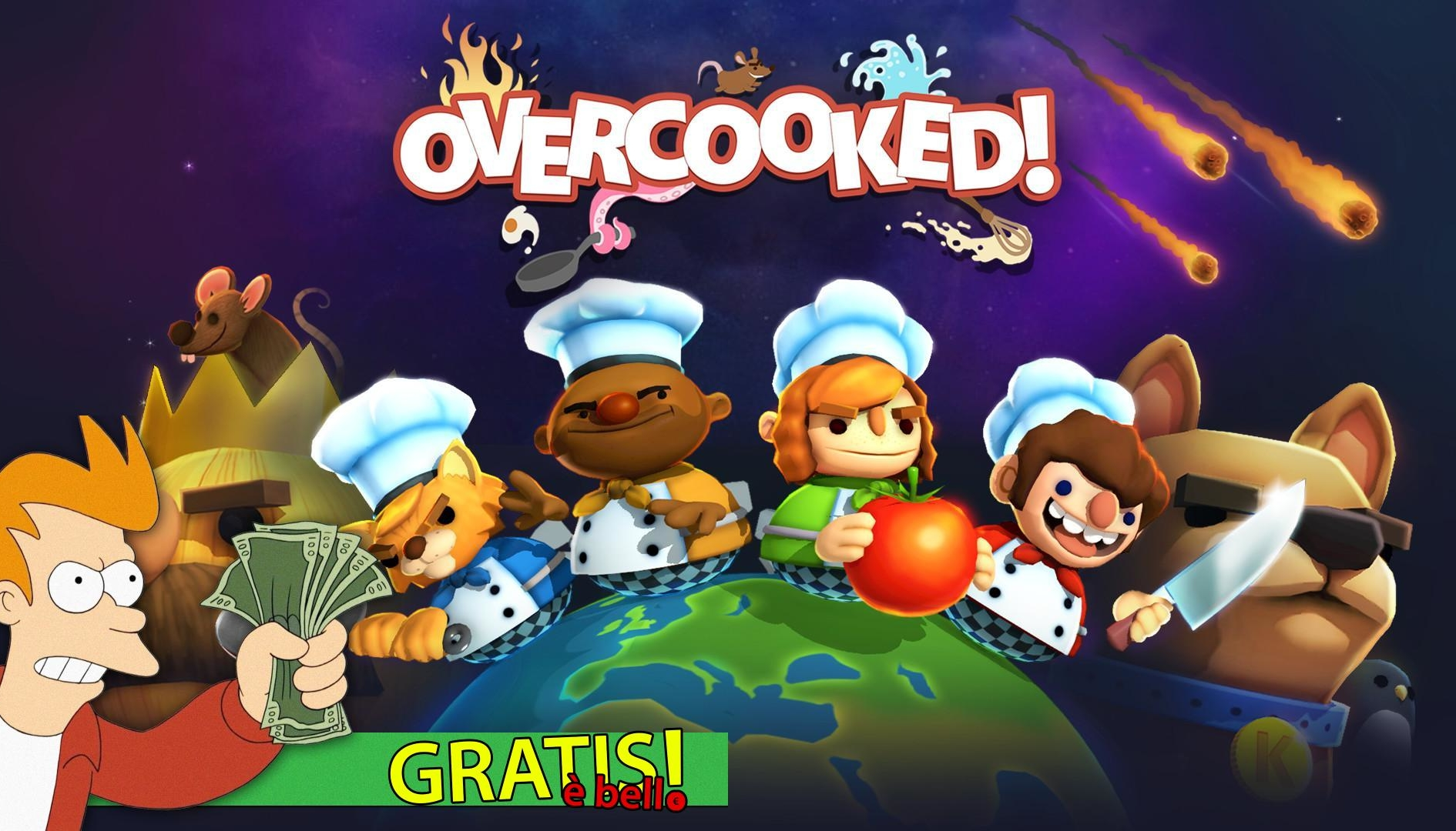 Overcooked gratis su PC per un tempo limitato