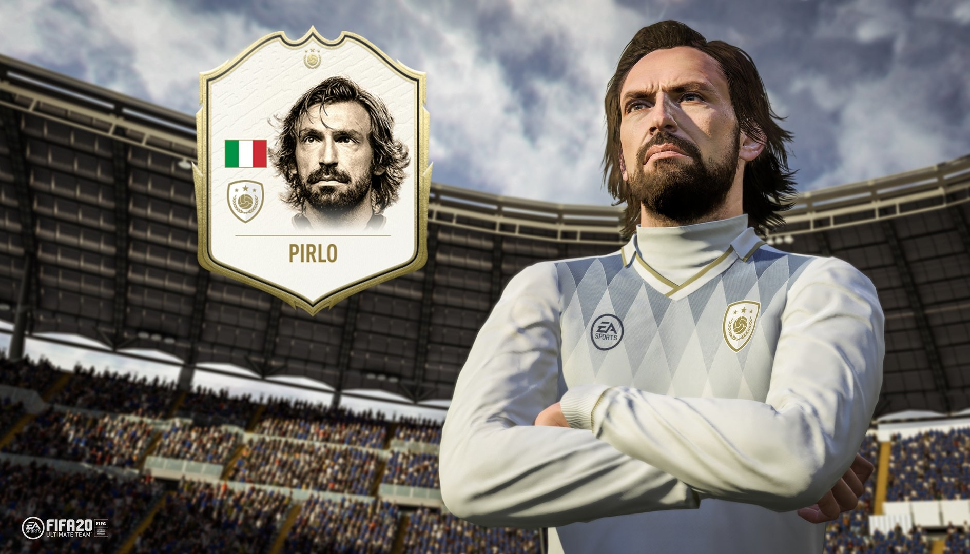 FIFA 20: Pirlo sarà un'icona nell'atteso titolo!