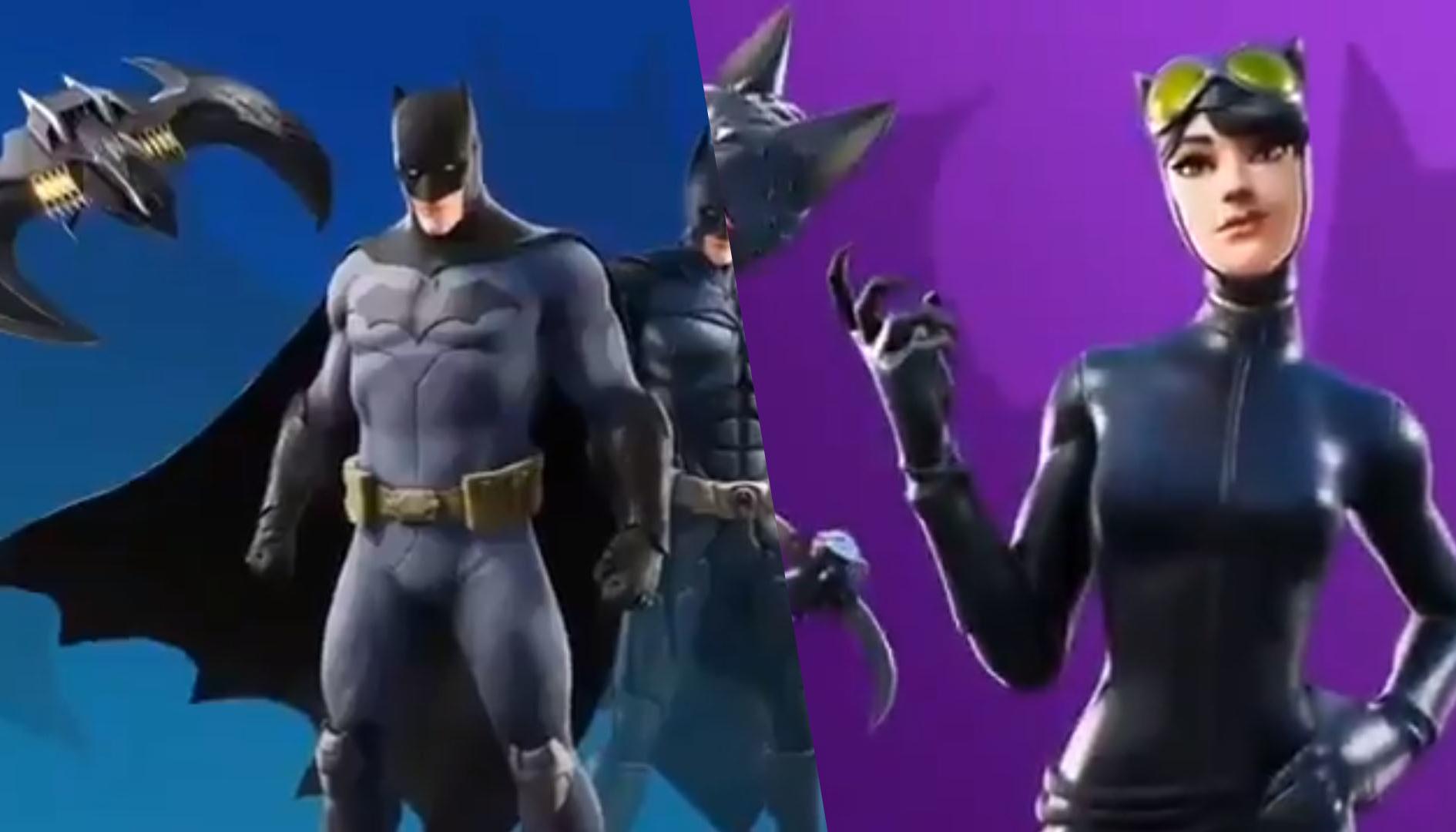 Fortnite, dei leak svelano le skin di Batman e Catwoman