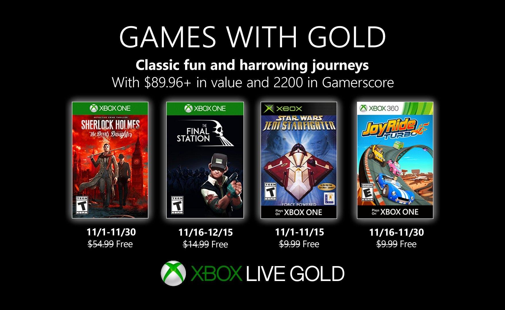 Games with Gold: Sherlock Holmes e The Final Station tra i giochi gratuiti di Novembre 2019
