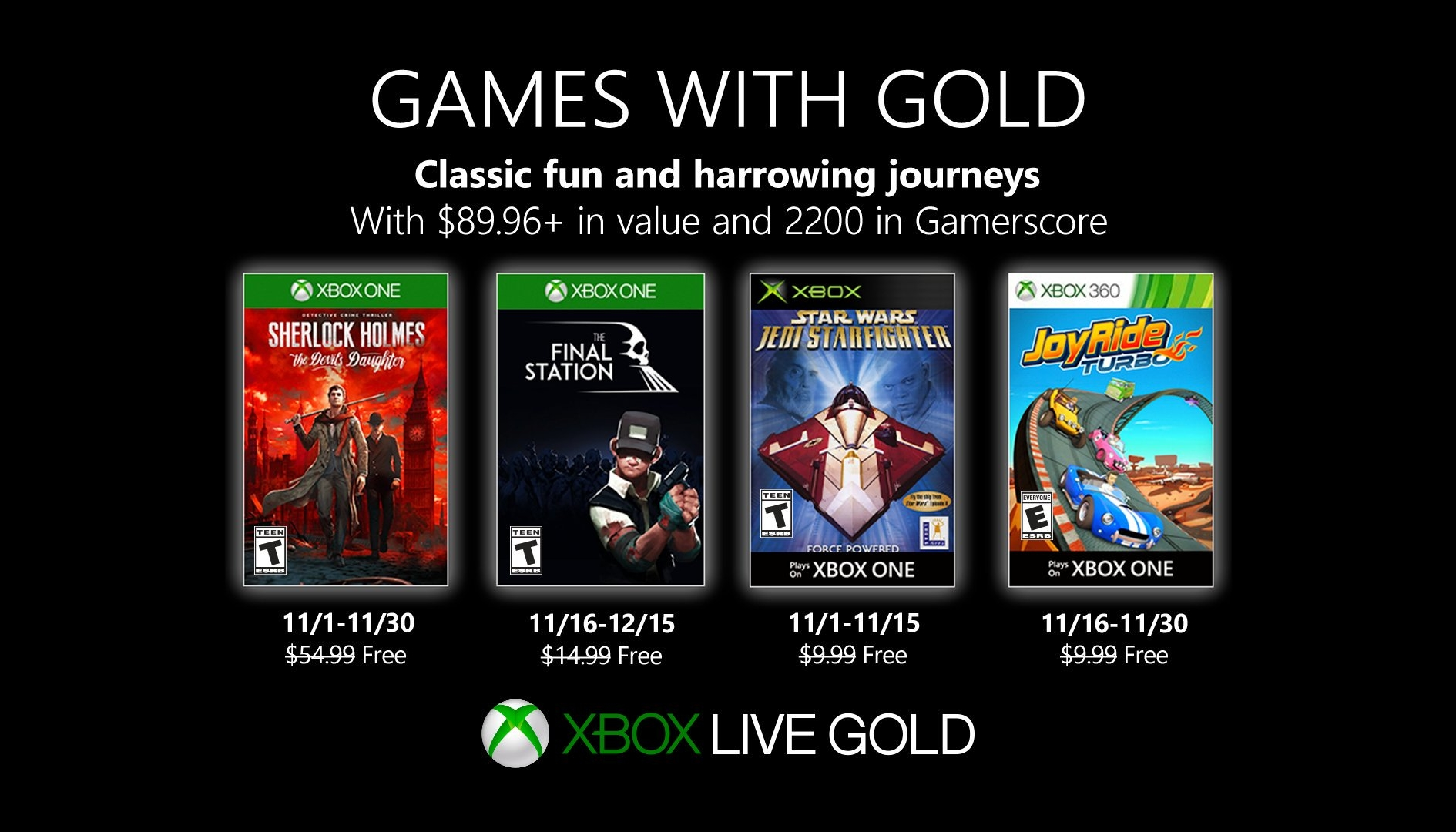 Games with Gold: Sherlock Holmes e The Final Station tra i giochi gratuiti di Novembre 2019