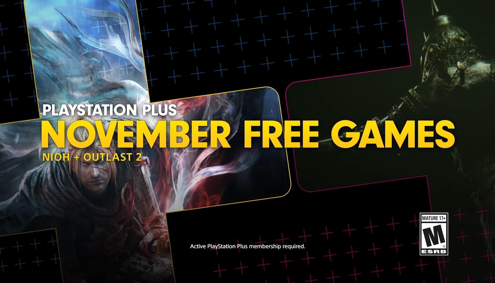 Playstation Plus, Nioh e Outlast 2 sono i giochi gratuiti di Novembre