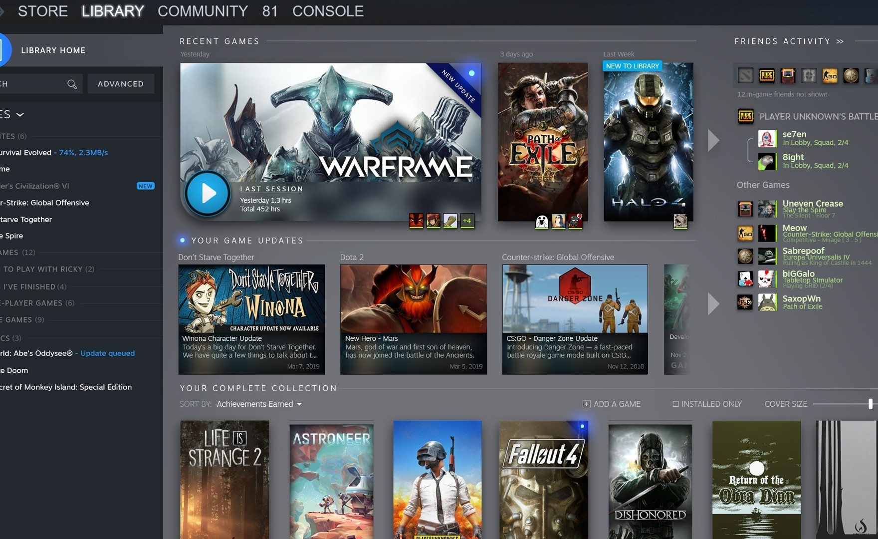Steam: il restyle grafico della libreria è ora disponibile per tutti