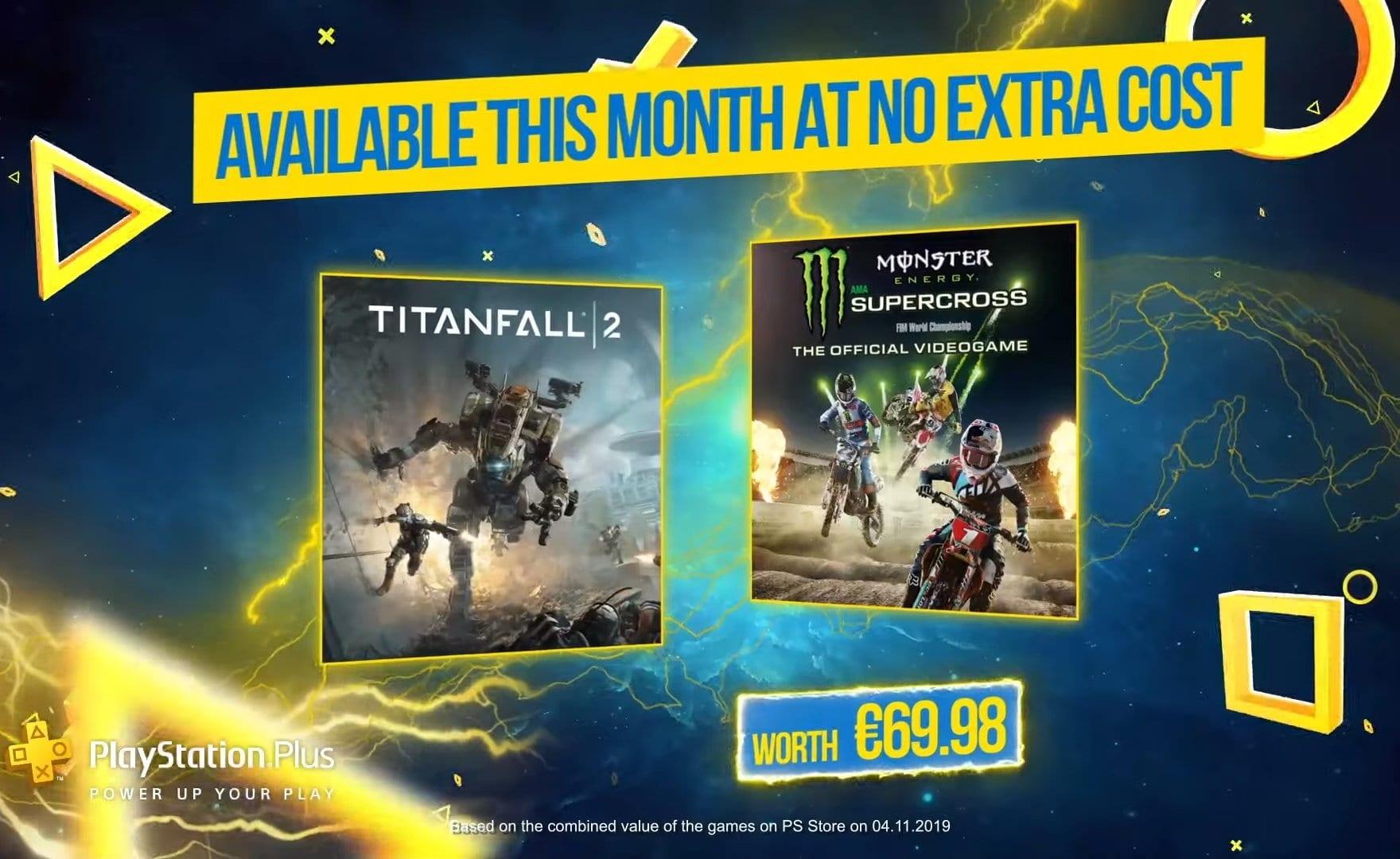 Playstation Plus: Titanfall 2 e Monster Energy Supercross sono i giochi gratuiti di Dicembre