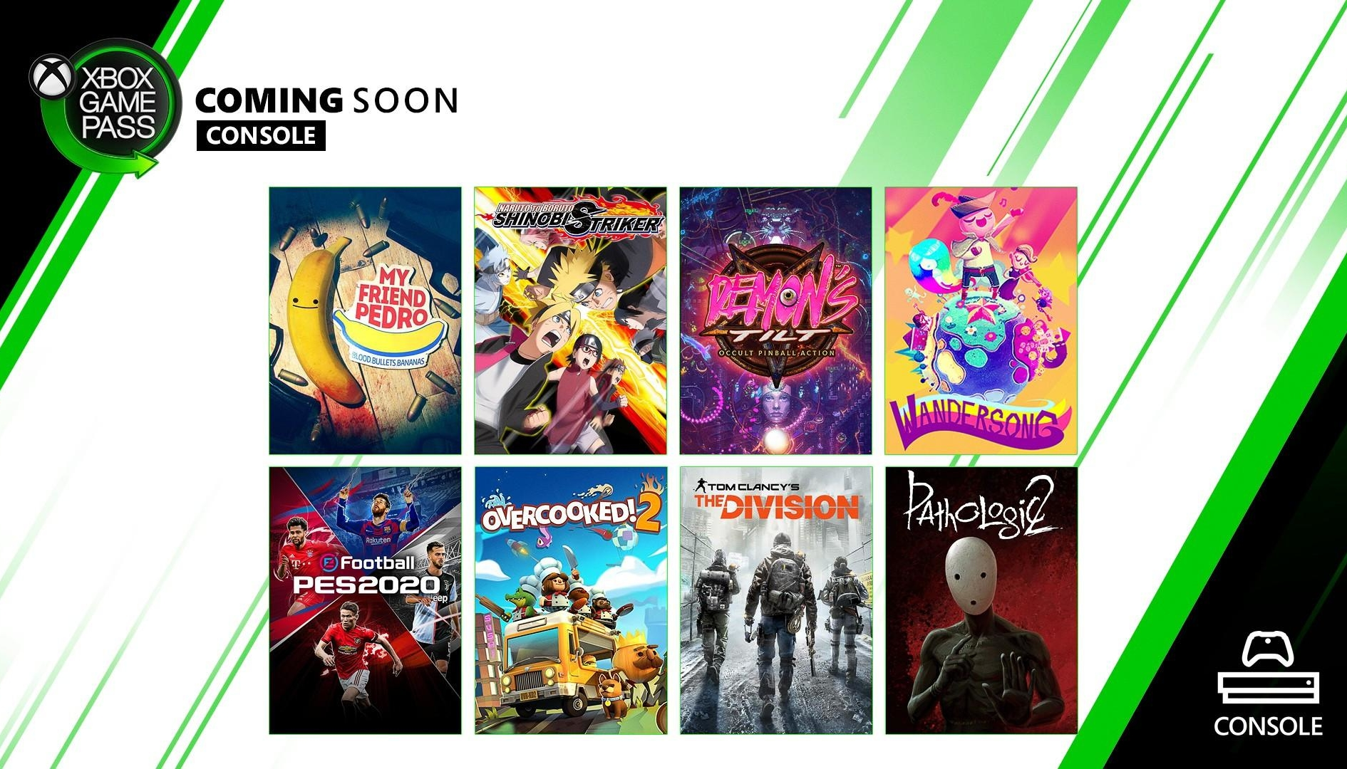 Xbox Game Pass: My Friend Pedro, PES 2020 e The Division tra i giochi di Dicembre
