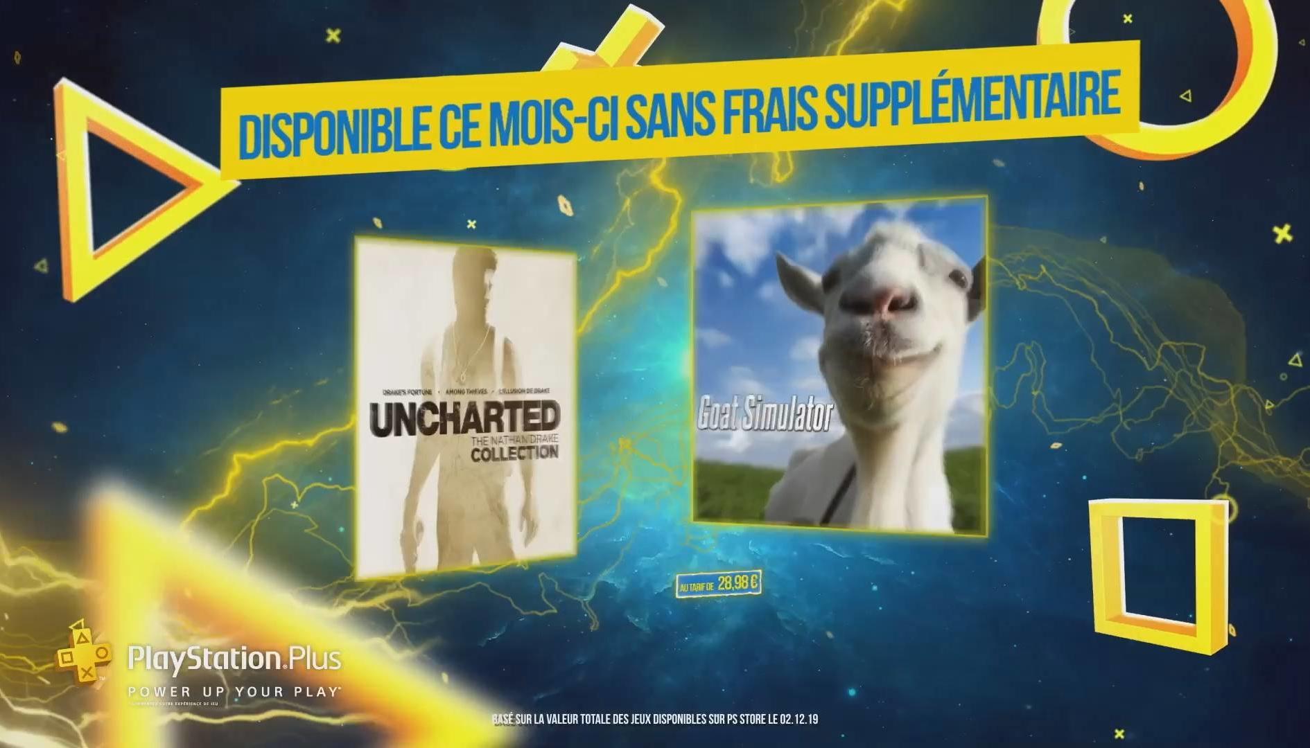 Playstation Plus, Goat Simulator e Uncharted sono i giochi gratuiti di Gennaio 2020