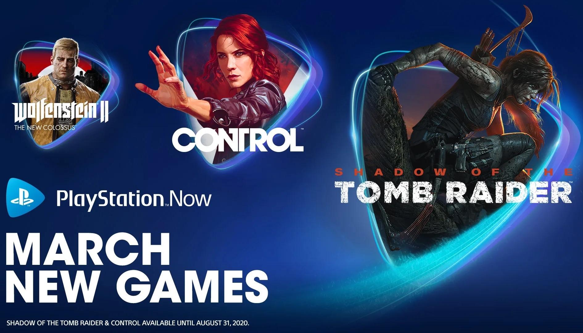 PS Now: Control, Tomb Raider e altri giochi confermati da Sony