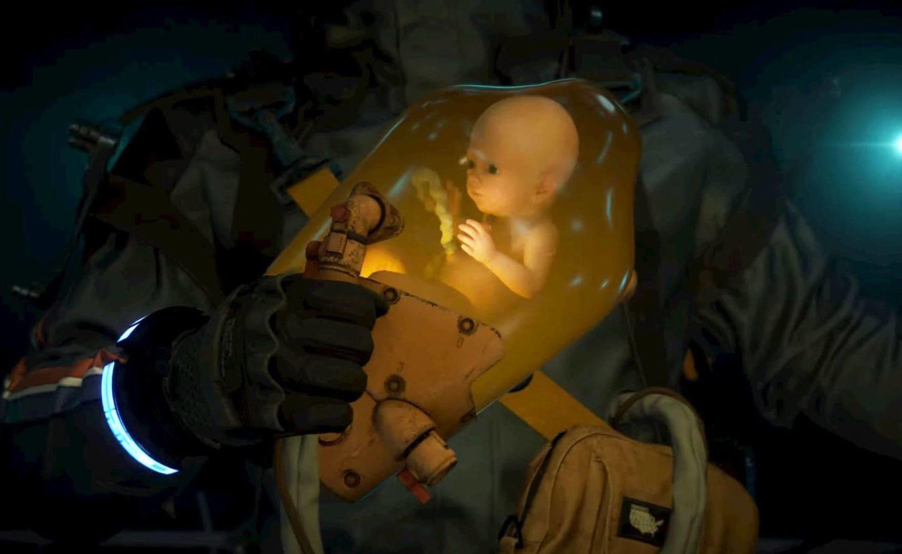 Death Stranding: padre crea una capsula BB per proteggere il figlio dal contagio