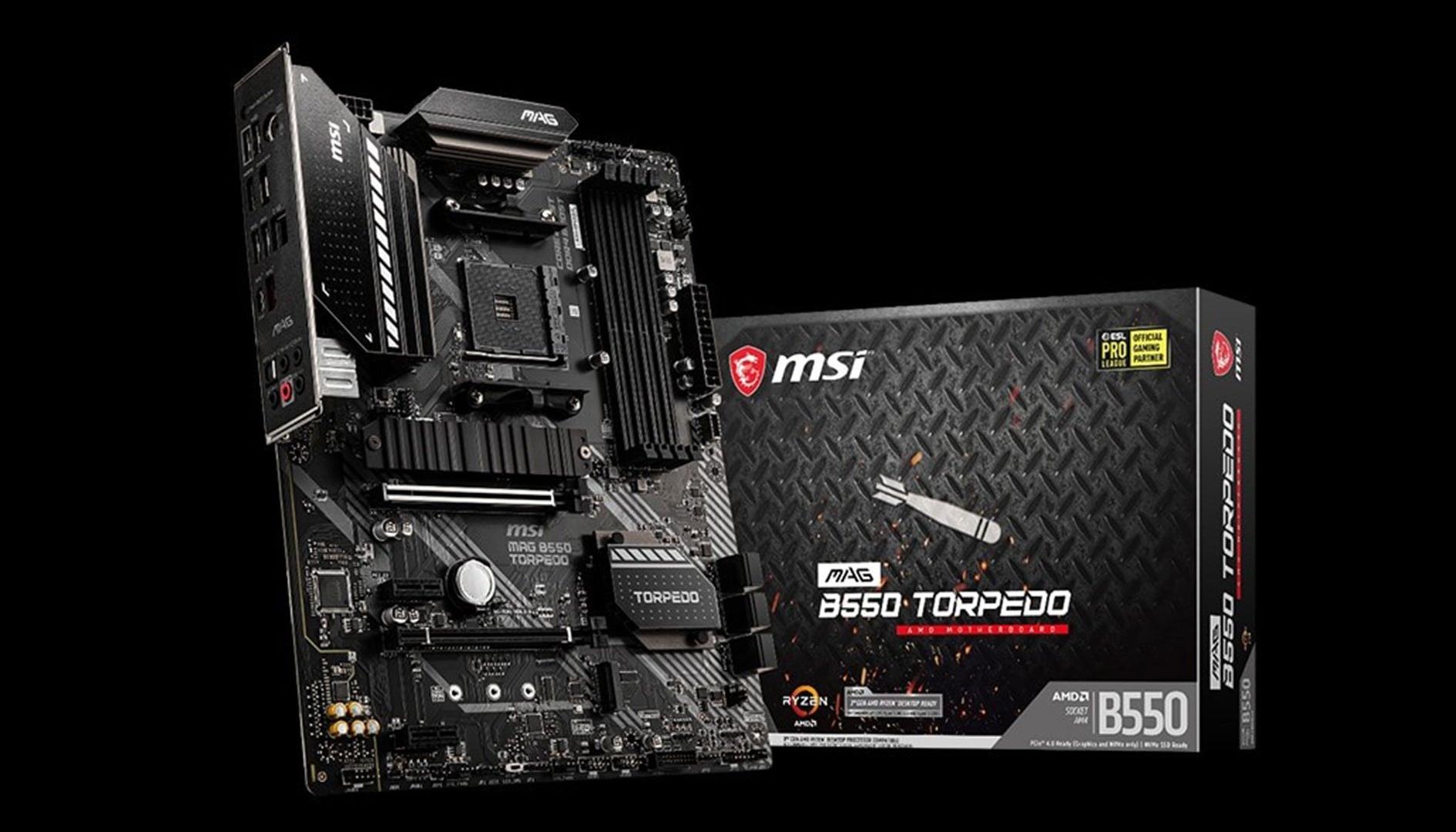 MSI MAG B550 Torpedo, la nuova motherboard per CPU Ryzen con chipset B550
