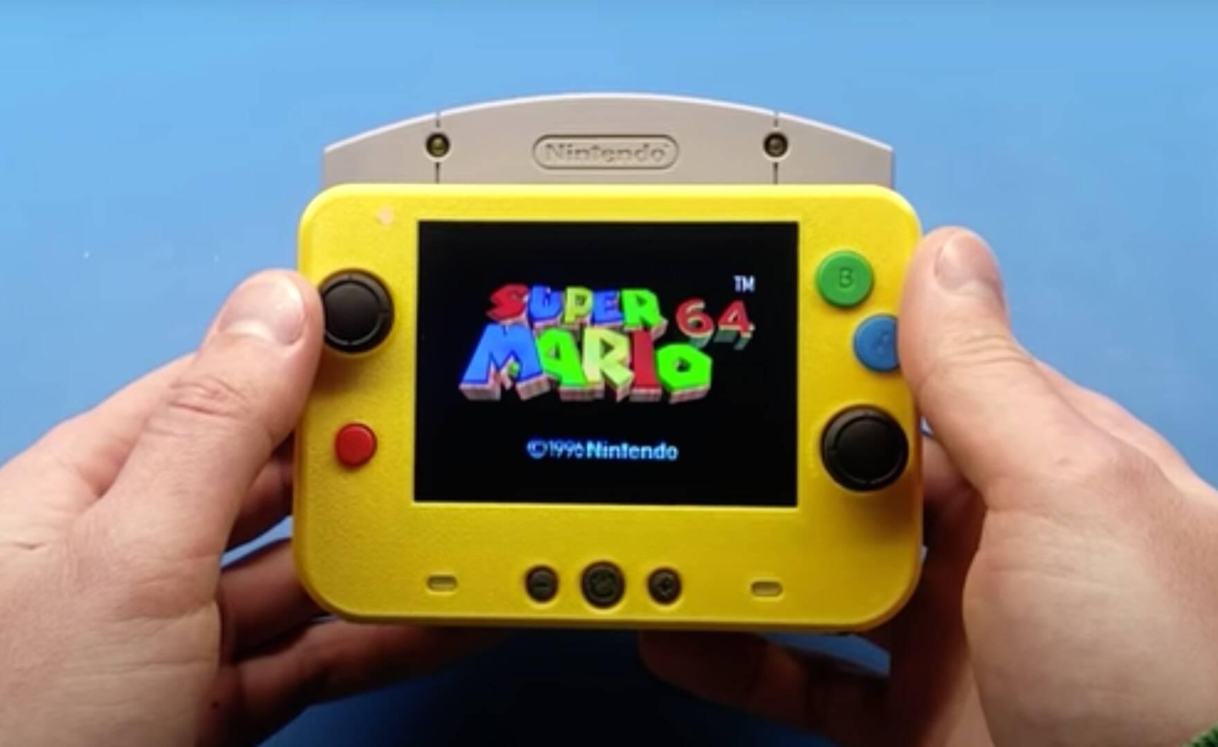Nintendo 64: un modder lo trasforma in una mini console portatile